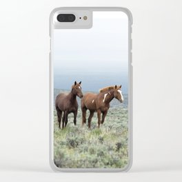Wild Horses - Steens No. 1 Clear iPhone Case