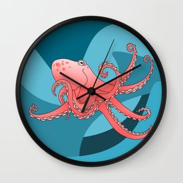 Octopus Pattern Wall Clock