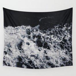 OCEAN - WAVES - SEA - ROCKS - DARK - WATER Wall Tapestry