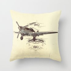 1943 caza Throw Pillow