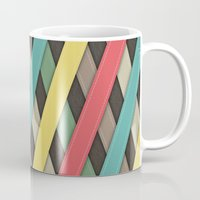 striped Mugs featuring Striped by General Design Studio