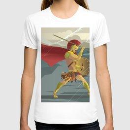 epic spartan soldier in the rain T-shirt