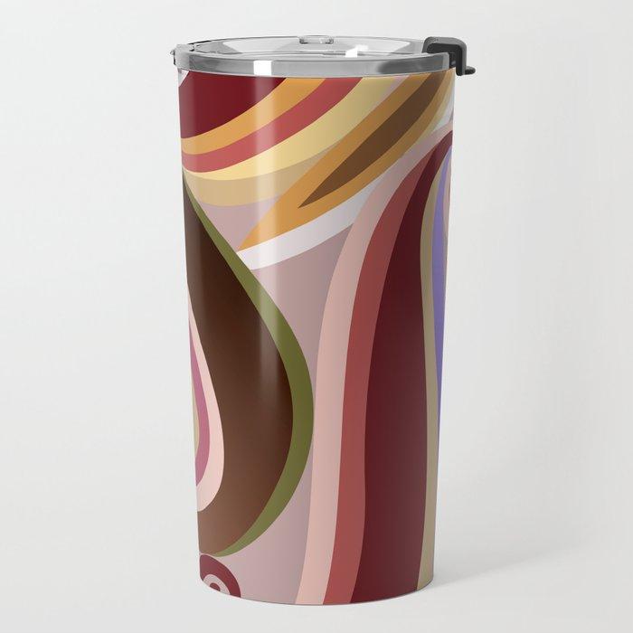 Orangepurple curve  Travel Mug