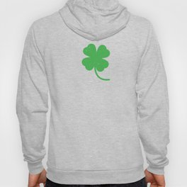 Distressed Four Leaf Clover St Patricks Day Hoody
