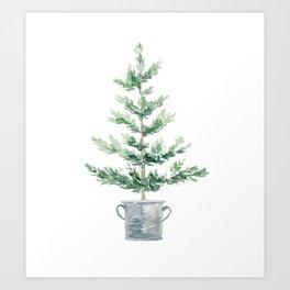 Christmas fir tree Art Print