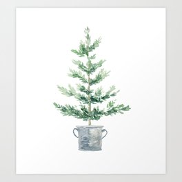 Christmas fir tree Art Print