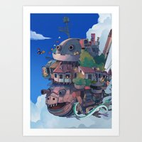 studio ghibli Art Prints featuring studio ghibli by KEL H