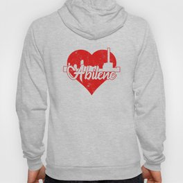 Retro Abilene Texas Skyline Heart Hoody