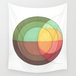Concentric Circles Forming Equal Areas Wall Tapestry