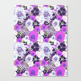 Croc Floral Goes Purple Canvas Print