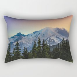 Mount Rainier colors Rectangular Pillow