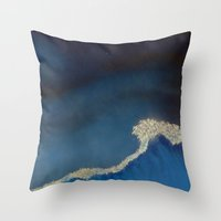 the last unicorn Throw Pillows featuring The Last Unicorn : Last Wave  by Christopher Chouinard