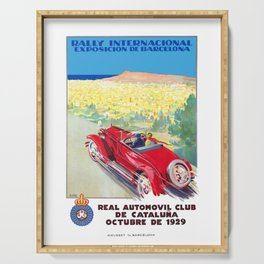 1929 SPAIN International Rally Exposition Of Barcelona Poster Serving Tray