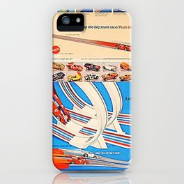 Vintage Hot Wheels Redline Flying Colors Double Scare Trade Print Poster iPhone Case