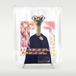 Ostrich geek on fleek Shower Curtain