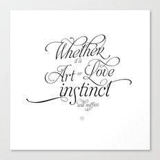 On Art & Love Canvas Print