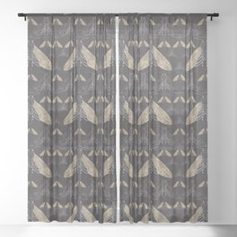 Moth pattern Sheer Curtain