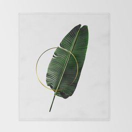 Minimalist Nature II. Graphic Design. Hybrydus. Throw Blanket
