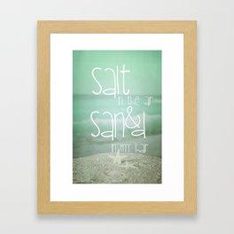 SALT &  SAND Framed Art Print