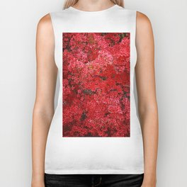 Charming Red Flower Biker Tank