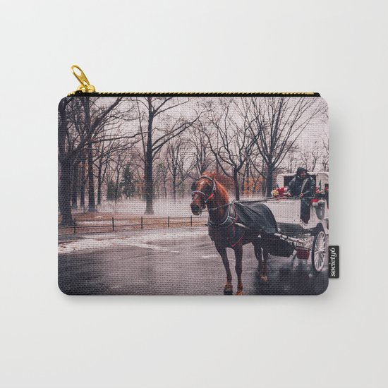 NYC Horse and Carriage Carry-All Pouch