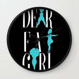 Dear Fat Girl Wall Clock