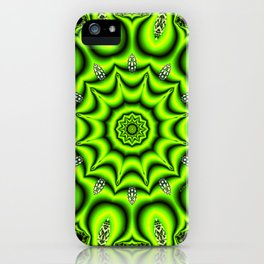 Spring Garden Mandala, Abstract Star Burst Delightful Spirals iPhone Case