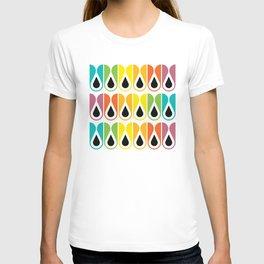 Geometric Pattern #120 (colorful loops) T-shirt