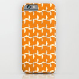 Funky Orange And White iPhone Case