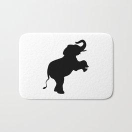 Elephant Silhouette Bath Mat