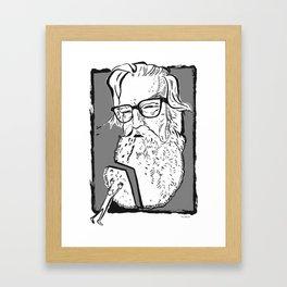 Robertson Davies (novelist, playwright, critic) Framed Art Print