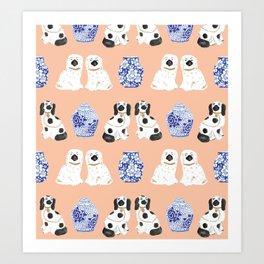 Staffordshire Dogs + Ginger Jars No. 5 Art Print