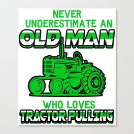 Tractor Pulling Power Full Pull Motorsport Gift Canvas Print