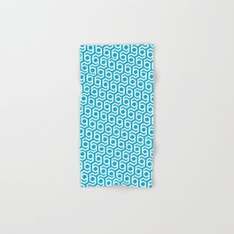 Modern Hive Geometric Repeat Pattern Hand & Bath Towel