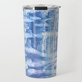 Steel blue blurred aquarelle Travel Mug