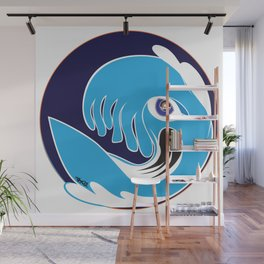 Waveboarder Smiley Wall Mural