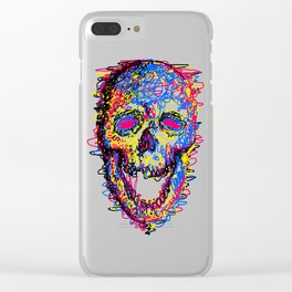 Skull Kid Draw Clear iPhone Case