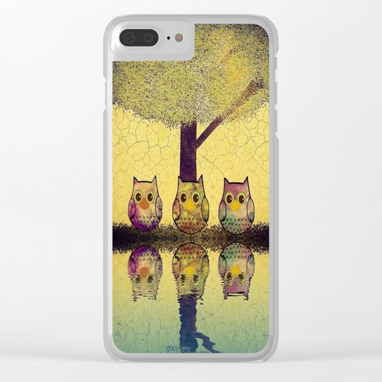 owl-7 Clear iPhone Case