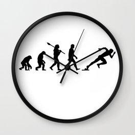 Runner sport jogging Wall Clock