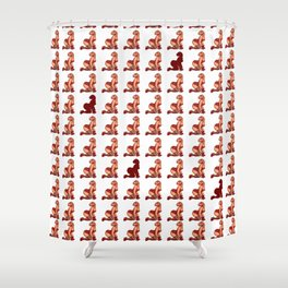 Sexy Dino Pattern Shower Curtain