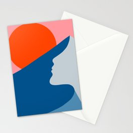 Mountain Woman  Stationery Cards
