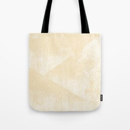 Neutral Soft Yellow and White Geometric Ink Texture Tote Bag