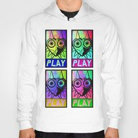 majora Hoodies featuring Majora Commands You by Shy Guy Street Art