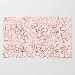 Crackle Rose Gold Foil Rug