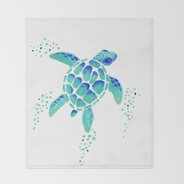 Neptune's Turtle Throw Blanket