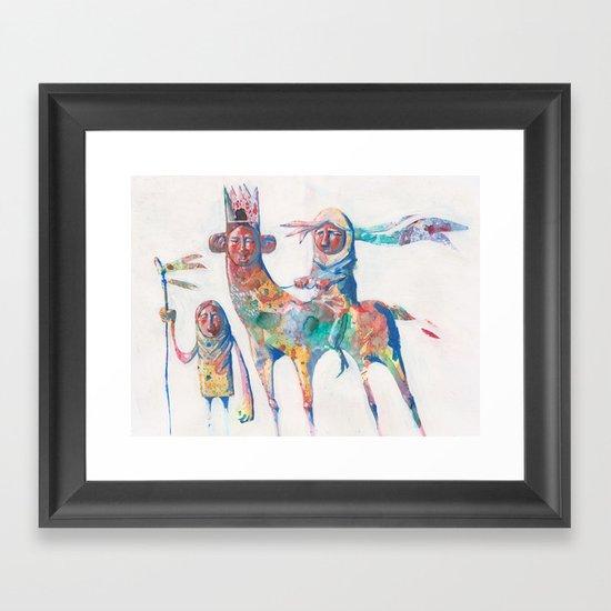 colour nomads Framed Art Print