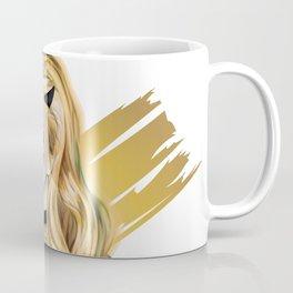 Golden Devil - Devil girl stylized vector portrait Coffee Mug
