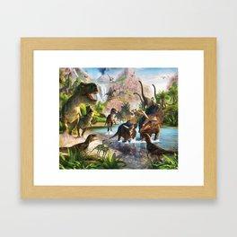 Jurassic dinosaur Framed Art Print