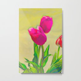 Tulips Abstract Metal Print