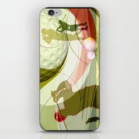 golf iPhone & iPod Skins featuring Golf by Robin Curtiss
